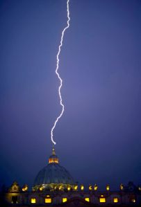 http://weather.aol.com/2013/02/11/photo-lightning-strikes-the-vatican/