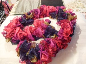 I began to knit - fancy dancey scarves like this