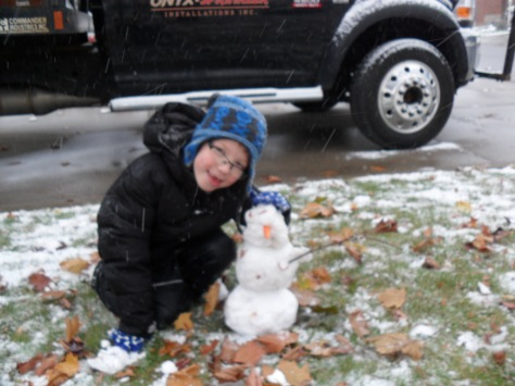 The biggest snowman we could make