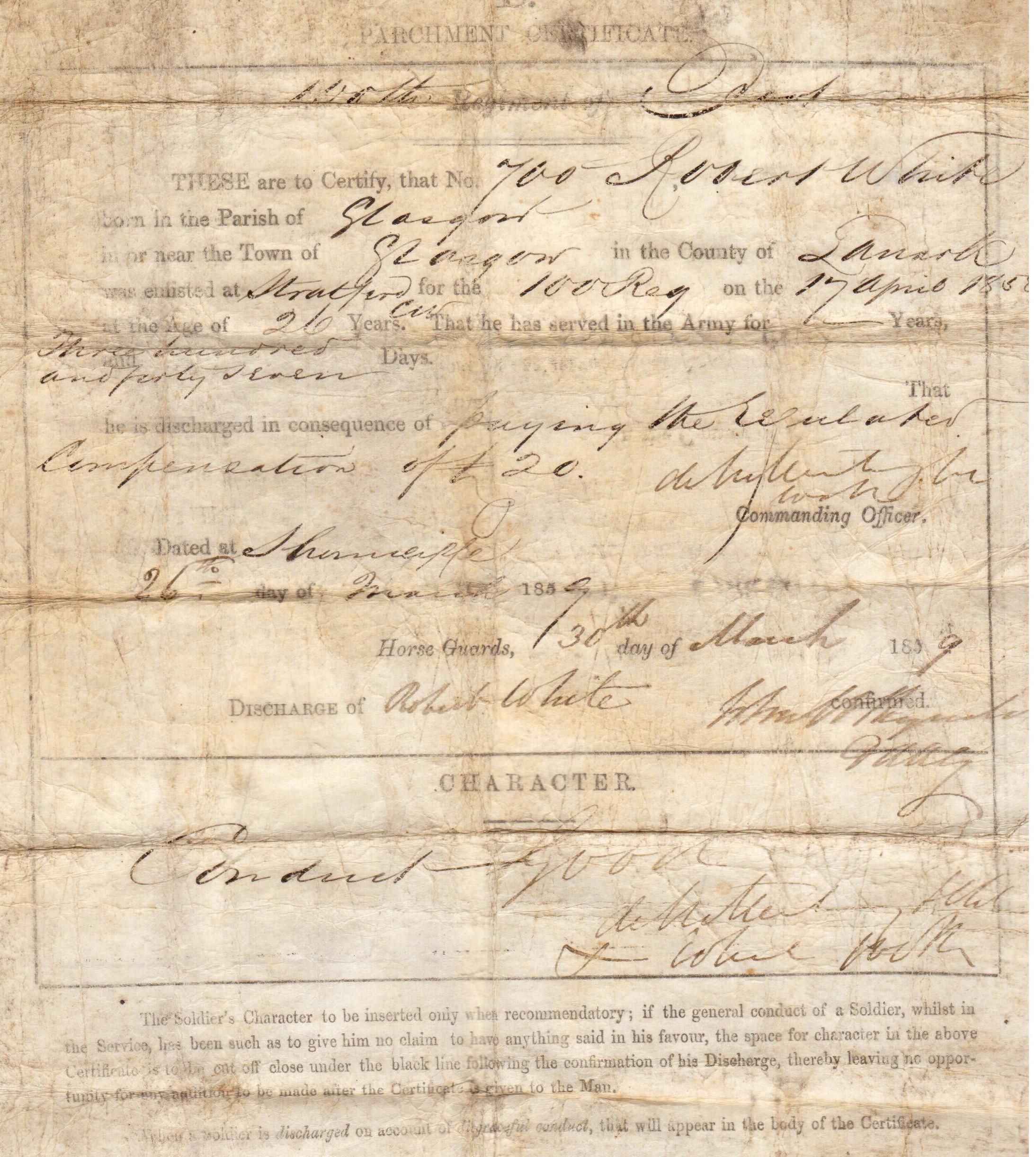 robert discharge document