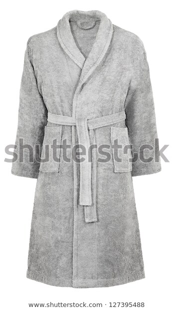 grey-dressing-bath-robe-isolated-600w-127395488